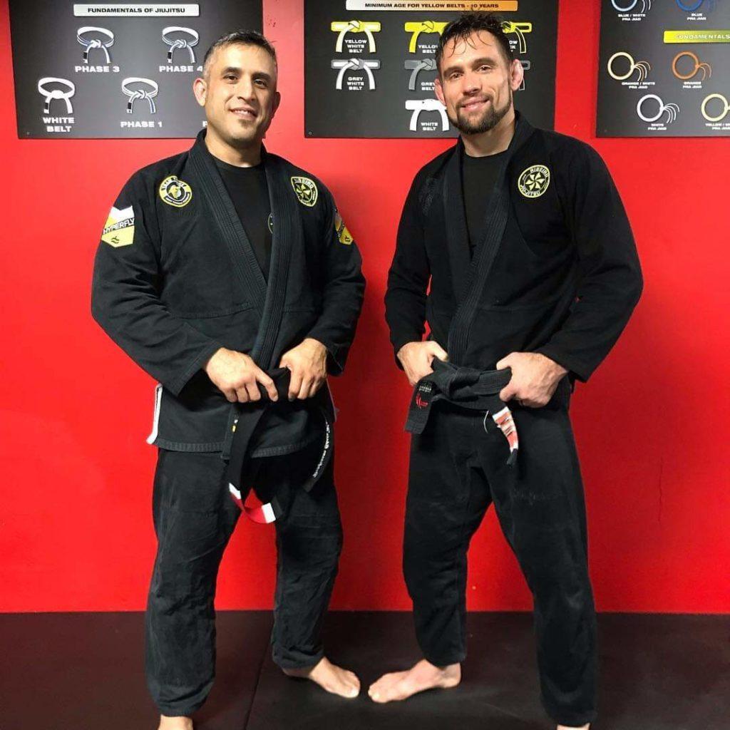Professor Chris Martinez with Professor Travis Tooke
